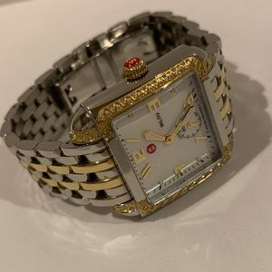 Michele Milou two tone diamond stainless watch